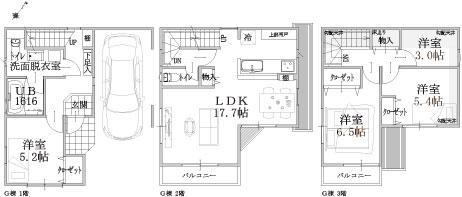 E棟建物平面図