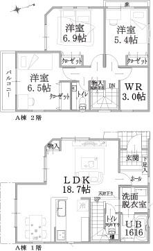 A棟建物平面図