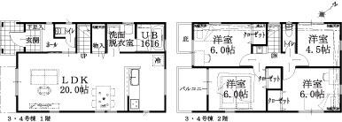 3・4号棟建物平面図