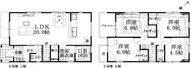 5号棟建物平面図