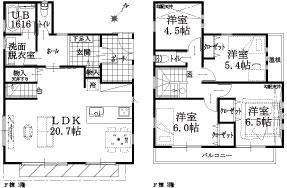 F棟建物平面図