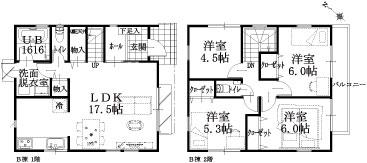 9棟 B棟建物平面図