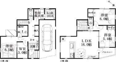 9棟 C棟建物平面図