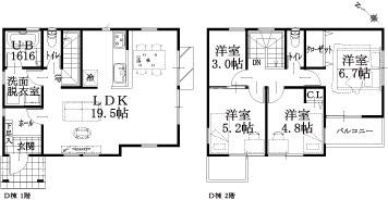 9棟 D棟建物平面図
