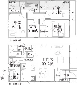 G・H棟建物平面図