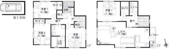 A棟参考建物平面図