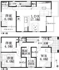 C棟建物平面図