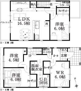D・E棟建物平面図