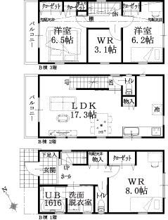 B棟建物平面図