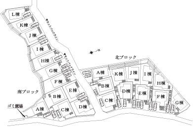 北側 配置図