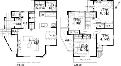 A邸建物平面図