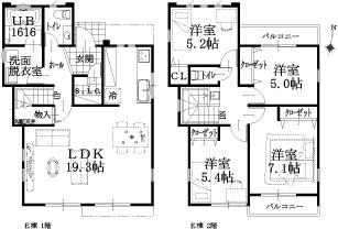 E邸建物平面図