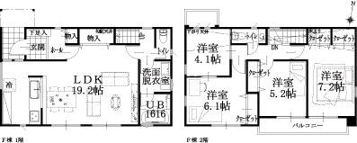 F邸建物平面図