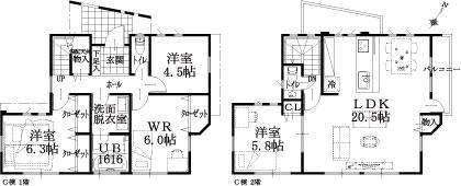 C邸建物平面図