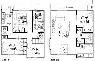 G邸建物平面図