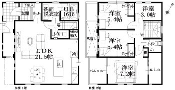 B邸建物平面図