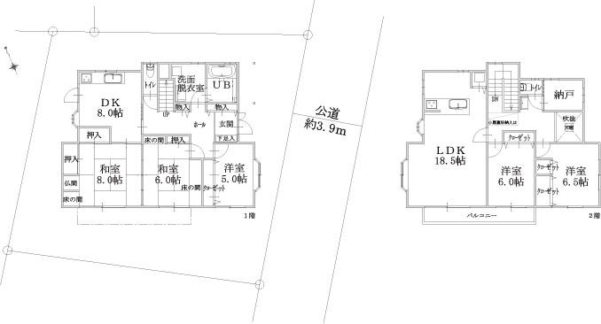建物区画図・平面図